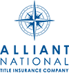 alliant national title insurance company square logo in blue, nautical compass over company name