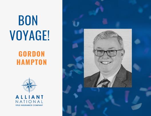 Celebrating a New Chapter, Congratulations Gordon Hampton