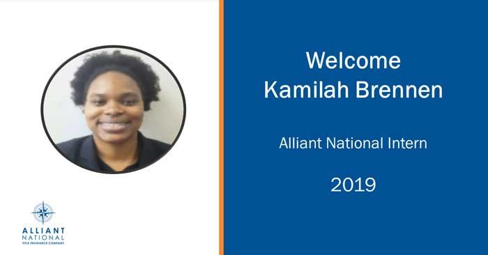 Alliant National announces internship program, introduces first intern Kamilah Brennen