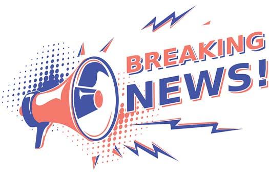 megaphone blaring breaking news