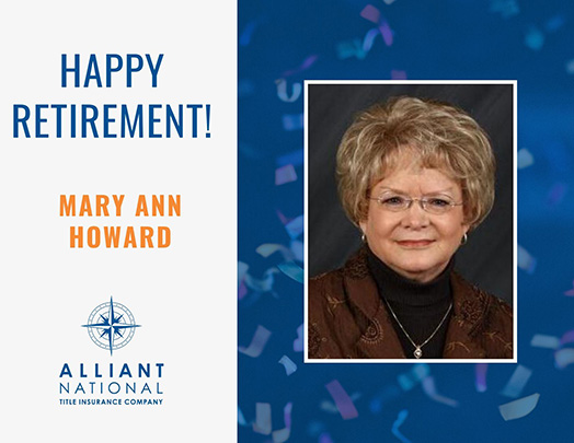 Congratulations Mary Ann Howard!