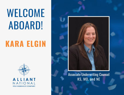 Kara Elgin - welcome aboard