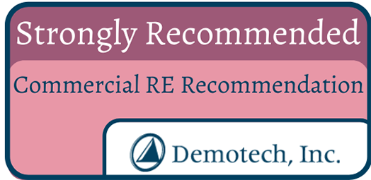 "Demotech CRER ""Stronbly Recommended"" badge"