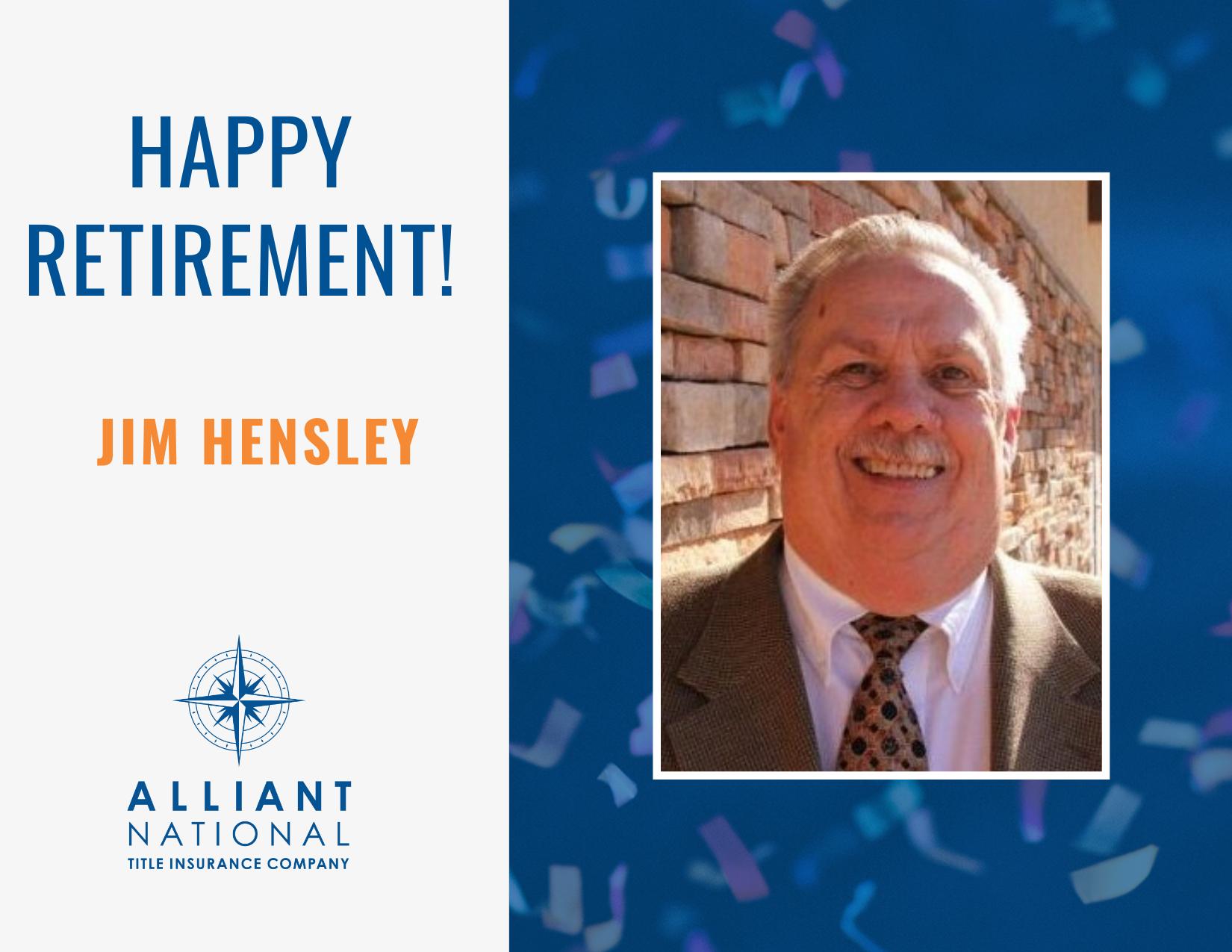 Congratulations Jim Hensley!