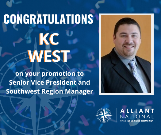CONGRATULATIONS KC West for promotion to SVP and SW RAM