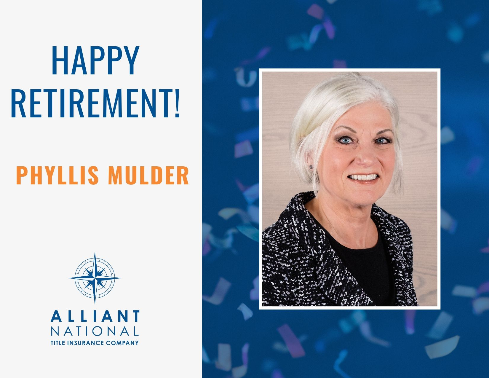 Happy Retirement - Phyllis Mulder