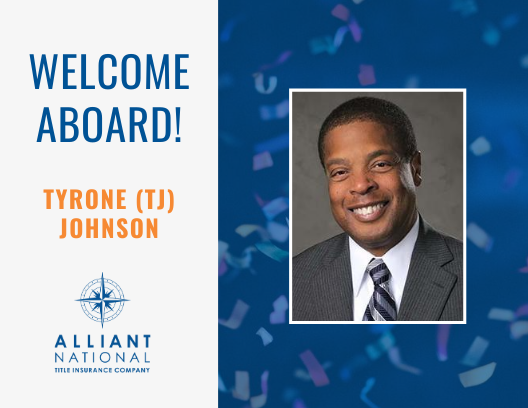 Alliant National Announces the Hiring of Tyrone (TJ) Johnson