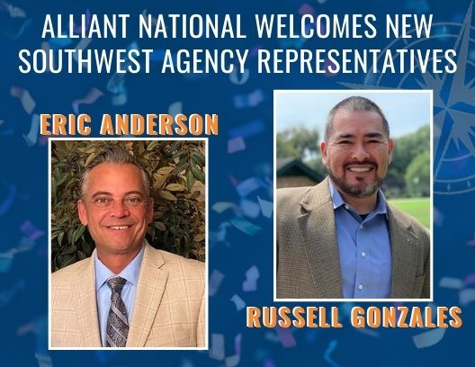 Graphic welcoming Eric Anderson and Russell Gonzales as Southwest Agency Representatives