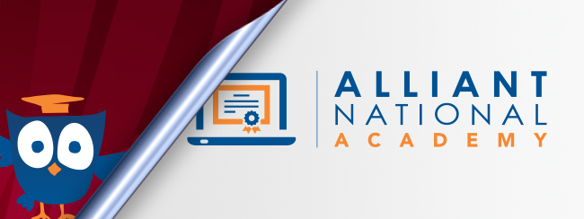 Alliant National Academy logo being revealed by owl