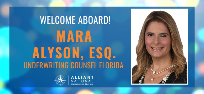 Announcing new Underwriting Counsel in Florida
