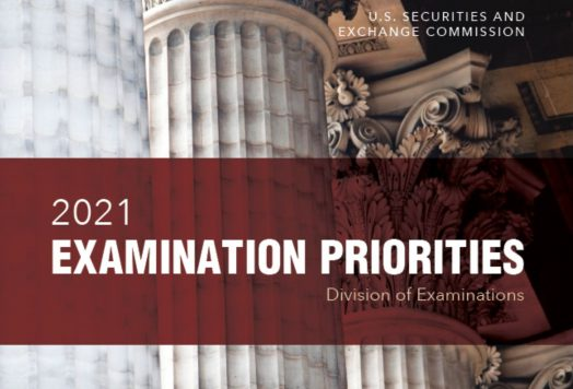 U.S. Securities and Exchange Commission's 2021 Examination Priorities report cover