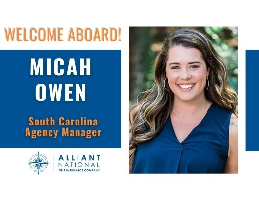 Alliant National Announces the Hiring of Micah Owen as South Carolina Agency Manager